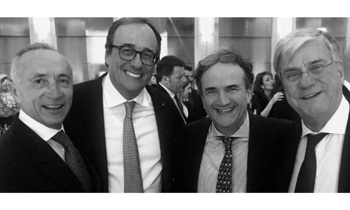Düsseldorf 2020: da sinistra Alberto Galassi, Massimo Perotti, Antony Sheriff e Paolo Vitelli