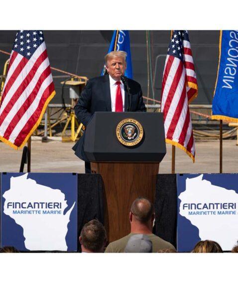 Donald Trump in visita a Fincantieri Usa