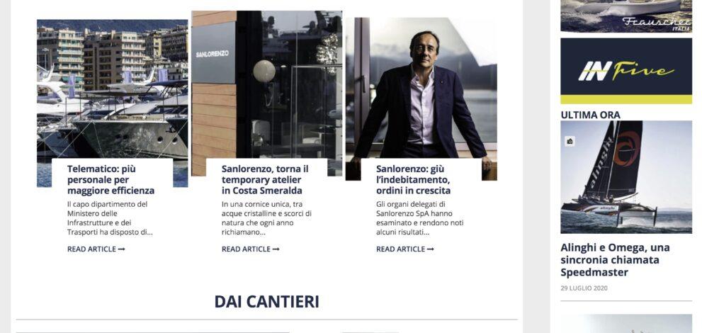 Gentedimare2.0: la home page