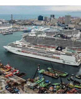MSC Crociere, quattro navi nel porto di Genova