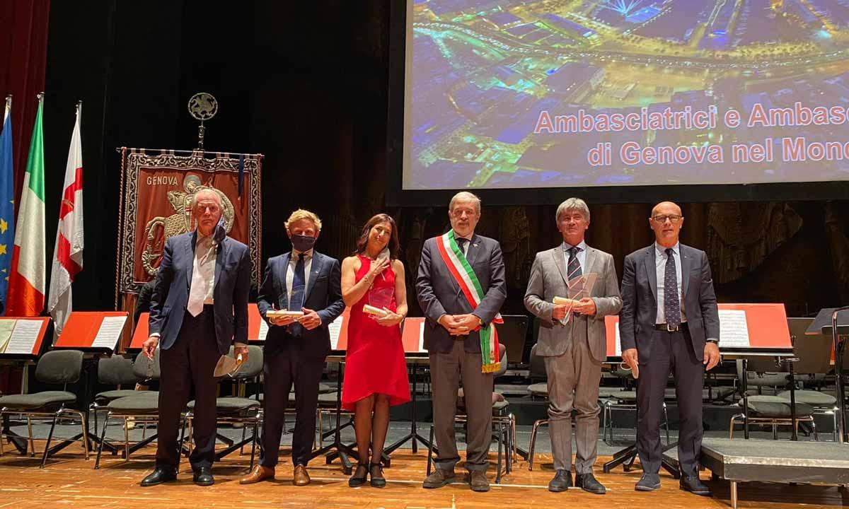 La cerimonia a Palazzo Tursi
