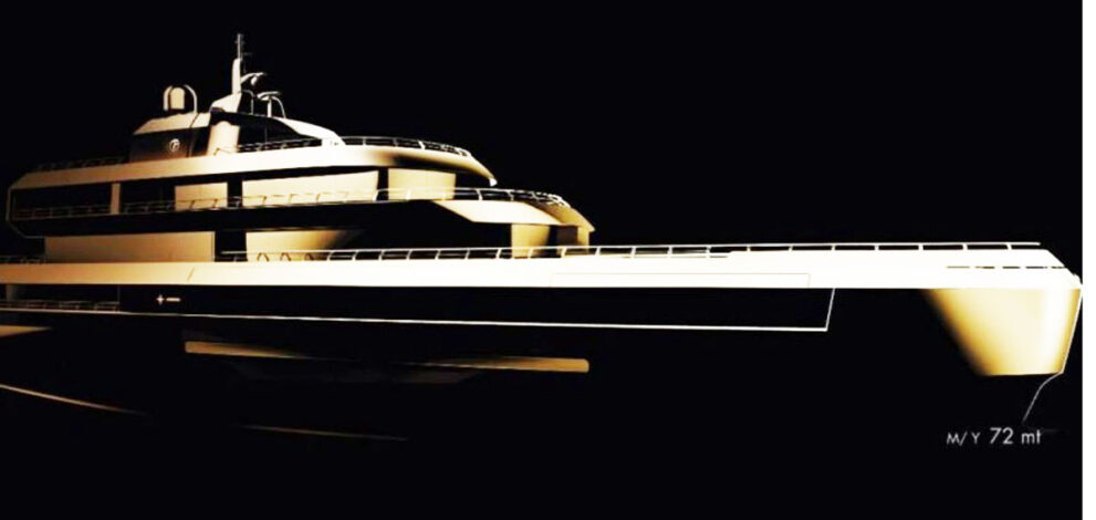 Armani: render Admiral 72 metri