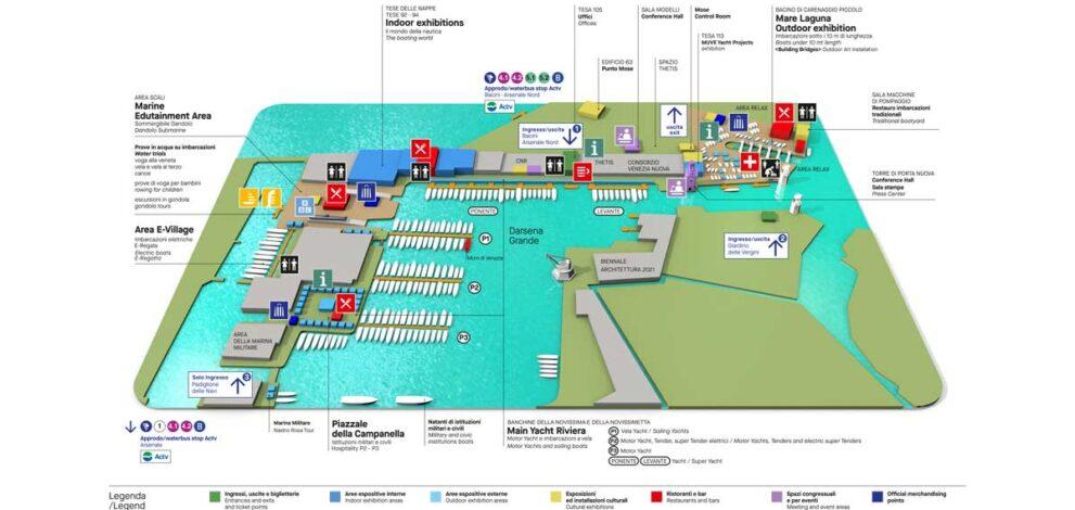 Salone Nautico Venezia: la mappa